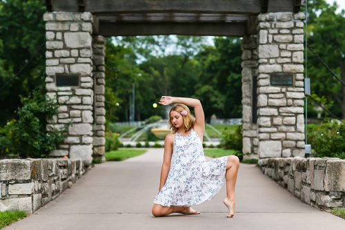 pretty dancer in garden