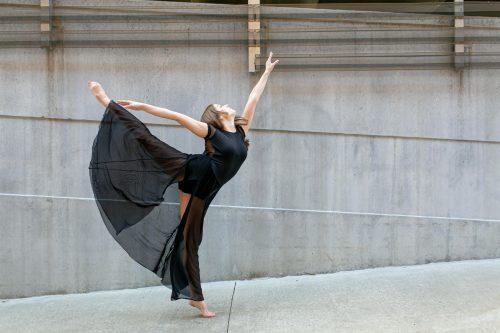 beautiful arabesque dancer photo