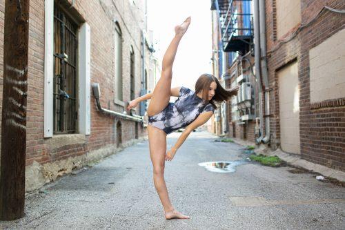 photo of dancer in alley in Kansas city