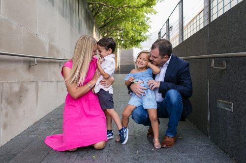 sweet lovable family session hugs